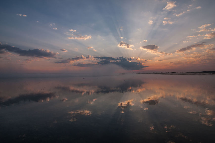 Federsee Beauty In Nature Cloud - Sky Day Horizon Over Water Idyllic Lake Nature No People Outdoors Reflection Scenics Sky Sunset Tranquil Scene Tranquility Water Waterfront