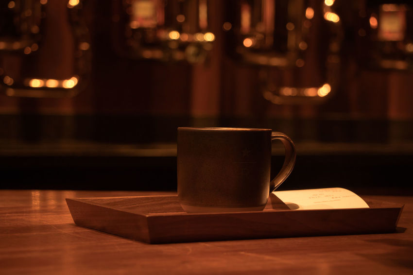 Cup Mug Table Drink Food And Drink Refreshment Coffee Cup Coffee Coffee - Drink Crockery Wood - Material Still Life Focus On Foreground Indoors  No People Saucer Hot Drink Cafe Close-up Freshness Frothy Drink Tea Cup Non-alcoholic Beverage Starbucks Reserve Roastery Shanghai Starbucks Coffee