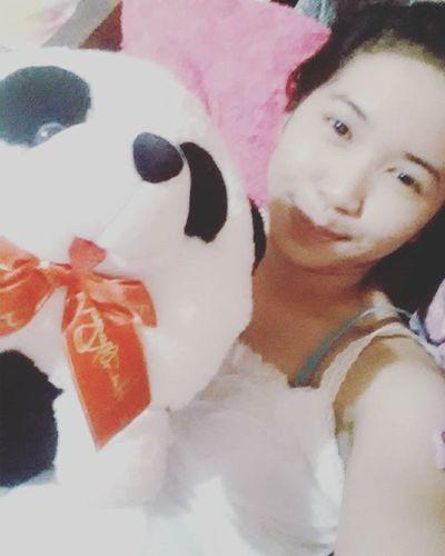 With this cute Panda.. :D 🐼🐼 HanzthePanda