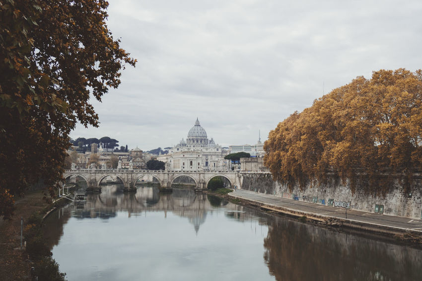San Pietro In Vaticano Vatican Architecture Building Exterior Built Structure Day Nature No People Outdoors Reflection River Sky Travel Destinations Tree Water Waterfront