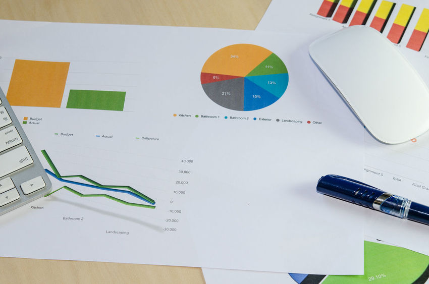 Business Chart Document Paper Workpalce