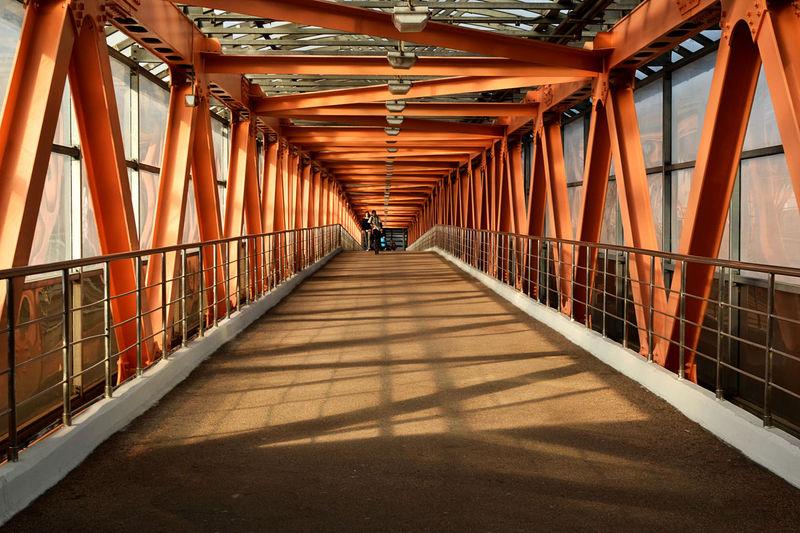 View of footbridge