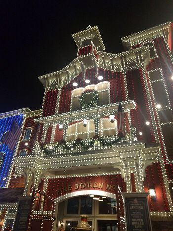The Christmas lights are AMAZING here! Architecture Building Exterior Christmas Christmas Lights Christmastime Illuminated Low Angle View Night Outdoors Silver Dollar City