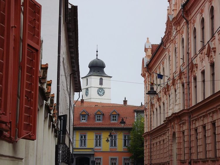 Hermanstadt Romania Tourism Travelling Magical Places Old Town Sibiu Iconic Tower Architecture