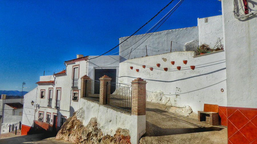Built into the mountain Olvera Spain Pueblos Blancos Building Built Structure Andulan Village Whitewashed Entryway