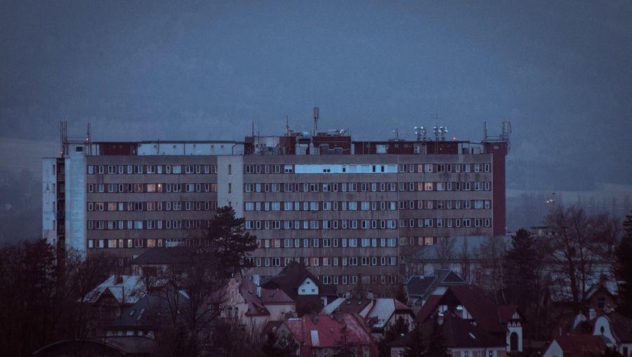 Architecture Blue Building Exterior Built Structure Cinematic Czech Republic Dark Hospital Liberec NoMercy