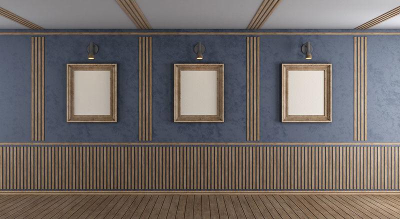 Boiserie Parquet Room Wall Wood Architecture Floor Furniture Gramercy Home Interior Indoors  Livingroom No People Purple