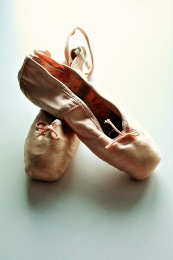 Ballet Ballet Shoes Close-up Dance Dancing Shoes Hobby Indoors  No People Studio Shot Vintage White Background