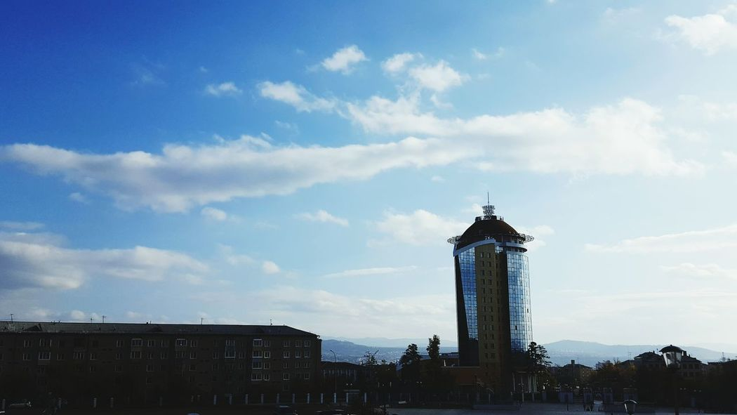 Built Structure Architecture Tower Sky City Tall - High Outdoors Blue Office Building Taking Photos Inspirations No People Buryatia, Russia, Ulan-Ude Hello World