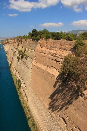 GREECE ♥♥ Corinth Canal Corinth Greece Greece Corinth Bridge Bridge - Man Made Structure Bridge Over Water Bridge View Bridge Landscape Nature No People Water Beauty In Nature