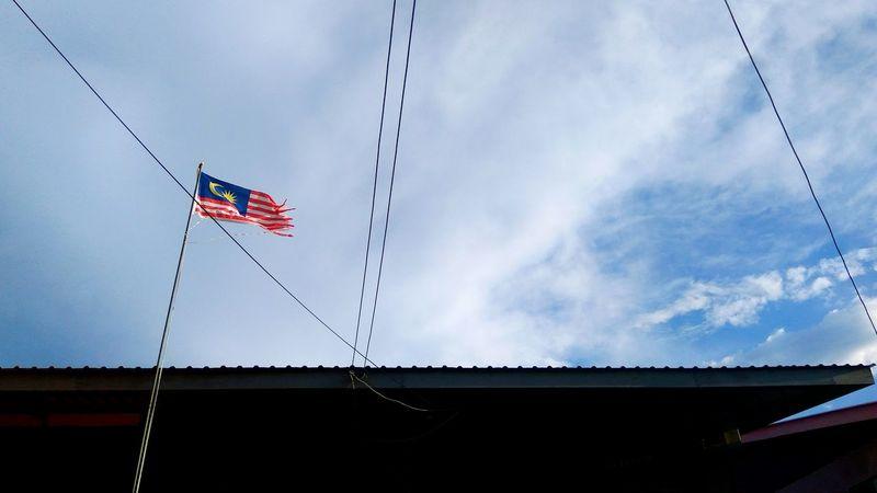 Proud Malaysian - Labuan Island (Nov, 2017) Flag Patriotism Sky Wind Flying Outdoors