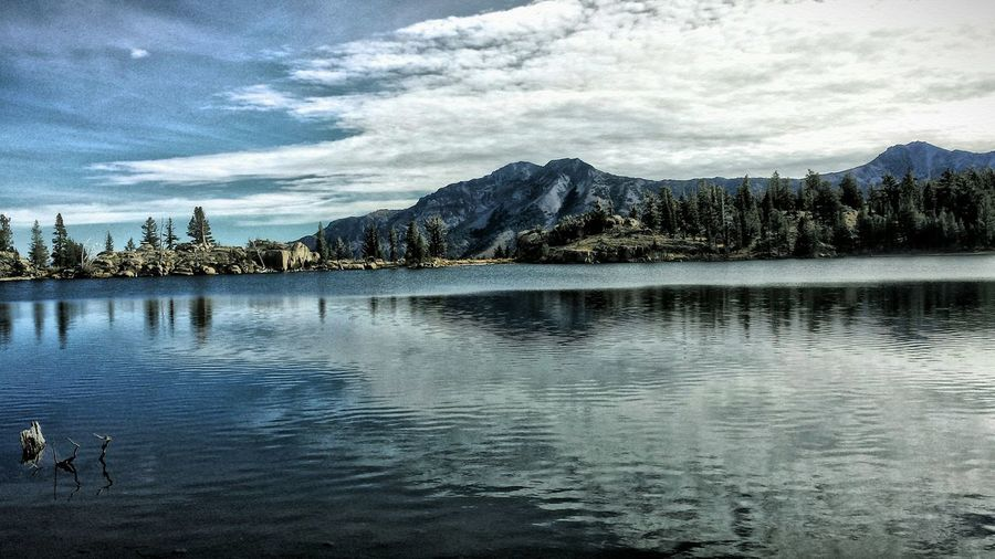 High Sierras Mountains And Sky Mountains Lake View Lakes Alone