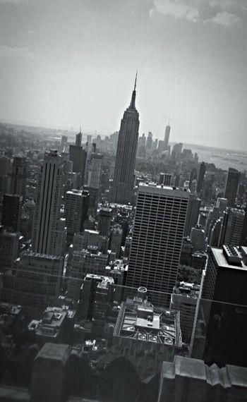 NYC Empire State Skyscraper Architecture Travel Destinations New York City Empire State Building Cityscapes One World Trade Center Urban Skyline