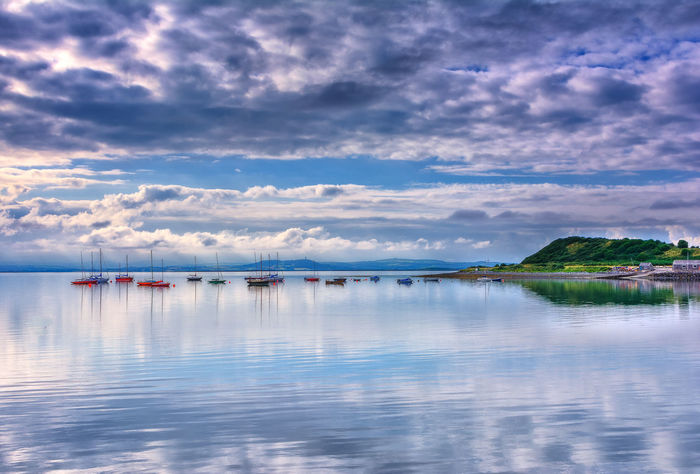 Tranquillity Ireland Northern Ireland Beauty In Nature Blue Cloud - Sky Horizon Over Water Moored Nature Nautical Vessel No People Outdoors Peaceful Reflection Scenics Sea Sky Still Strangford Lough Tranquil Scene Tranquility Transportation Travel Destinations Water Waterfront