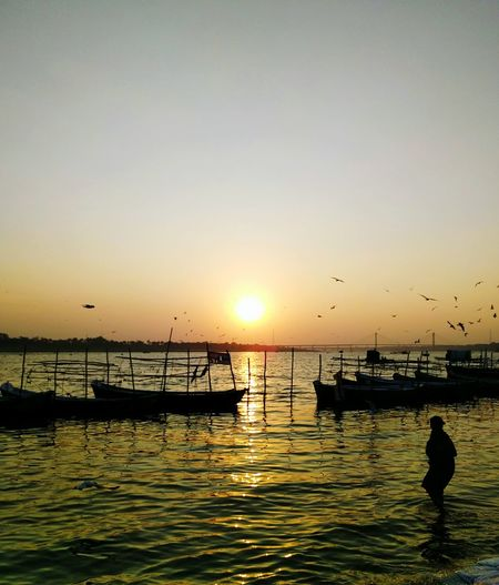 Sunset at Ganges river at Allahabad India First Eyeem Photo