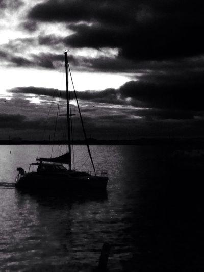 Break in the storm IPSStory Black & White IPhone Sailing