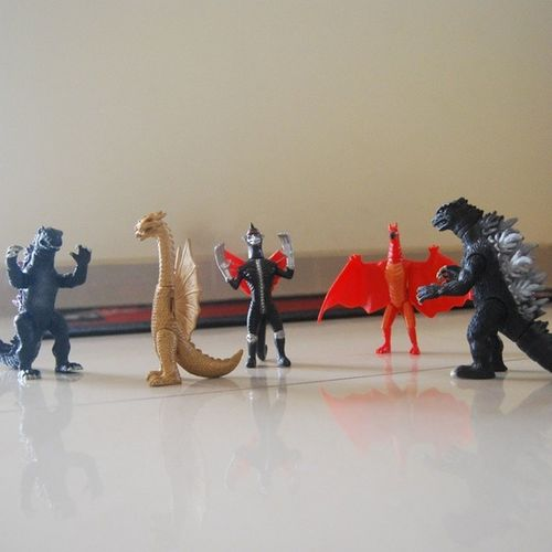Battle Royale! Godzilla KingGhidorah Gigan Rodan Tokusatsu Kaiju ActionFigure