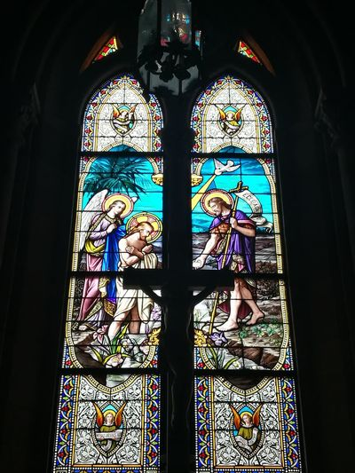 Windows Of Basilic Of Lujan Stained Glass Window Religion Glass - Material Spirituality Multi Colored History Architecture Travel Destinations Built Structure Close-up No People