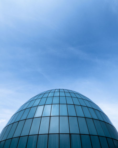 Architecture No People Day Sky Blue Building Exterior Built Structure Low Angle View Dome City Clear Sky Outdoors Copy Space Geometric Shape Pattern