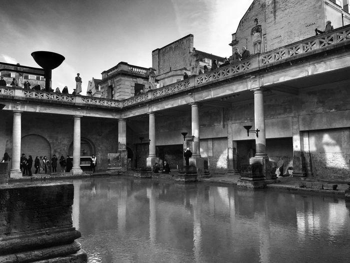 Roman Baths Against Sky In City