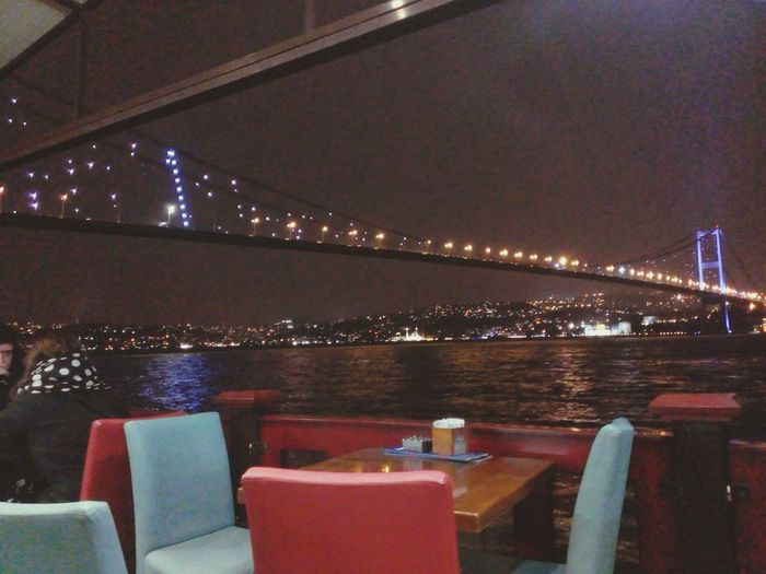 Bridge Istanbul Night Lights Marmara Sea
