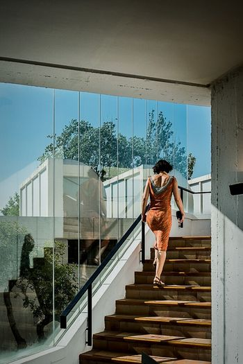 Open Edit Amazing Architecture The Architect - 2015 EyeEm Awards Buildings Color Stairs People Woman Light And Shadow
