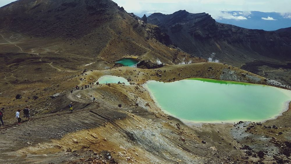 Emerald Lakes - Tongariro Crossing Water Geology Mountain Lake Nature Landscape Outdoors Volcanic Crater Volcanic Landscape Hot Spring