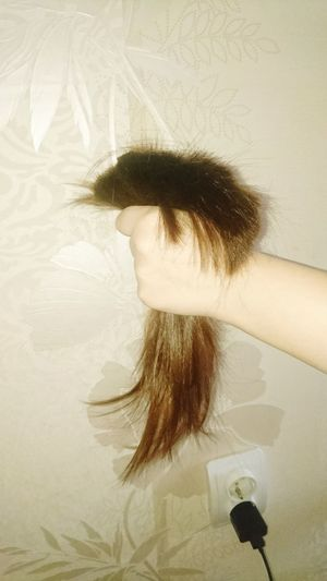 Human Hand Child Tangled Hair Women Close-up
