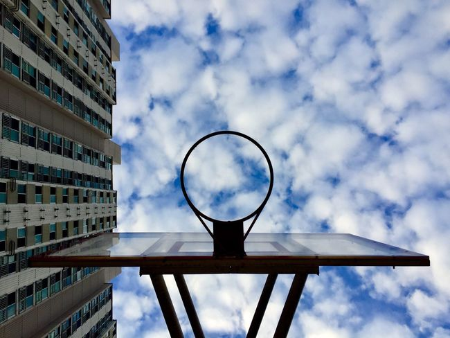EyeEm Selects Sky Cloud - Sky Low Angle View Basketball Ring Architecture City Life Urban Lifestyle Figure IPhoneography EyeEmNewHere