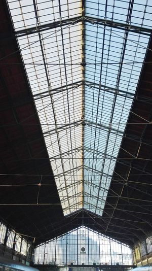 Full Frame Day No People Low Angle View Architecture Built Structure Sky Budapest Architecture Railway Station Platform