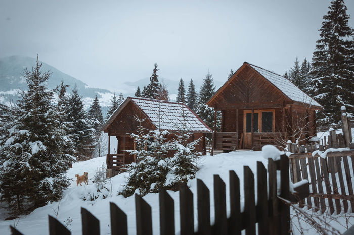 Architecture Beauty In Nature Building Exterior Built Structure Cold Temperature Day House Nature No People Outdoors Residential Building Scenics Sky Snow Snowing Tree Weather Winter