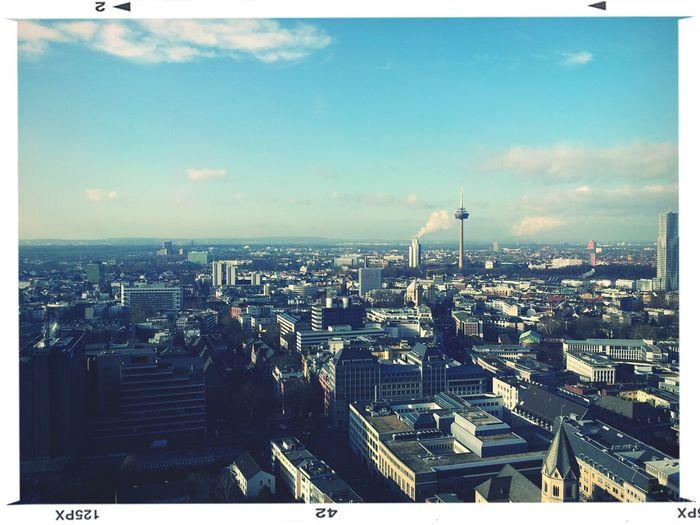 Beste Aussicht bei bestem Wetter Kölner Dom Köln Aussicht Genießen Cologne Enjoying The View Above The Roof