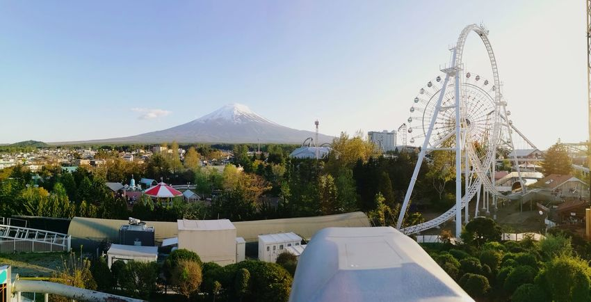 Nature Outdoors Sky Mountain Japan Mtfuji Day Yamanashi パノラマ 富士急ハイランド 富士山 山梨県 日本 景色 絶景 No People Tree Water City First Eyeem Photo Live For The Story EyeEmNewHere