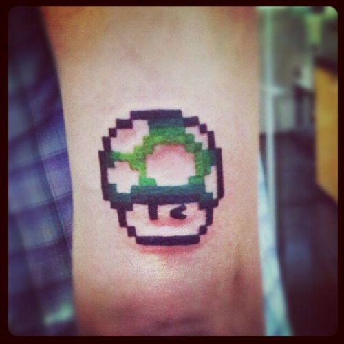 Second tattoo...♥ 1up 1up Supermario Marioworld  Playtattoo tattoo @pirescris @___joseph @bmanira @mariosergio