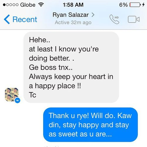 A message from one of my sons. This made my day. Thank you Ryan... MySonFromSears 😊❤️