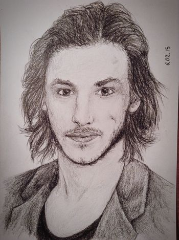 Gaspard Ulliel❤️??✏️ Cool Pencil Drawing Fanart Exciting, Drawing Portrait Cute Beautiful France Actor