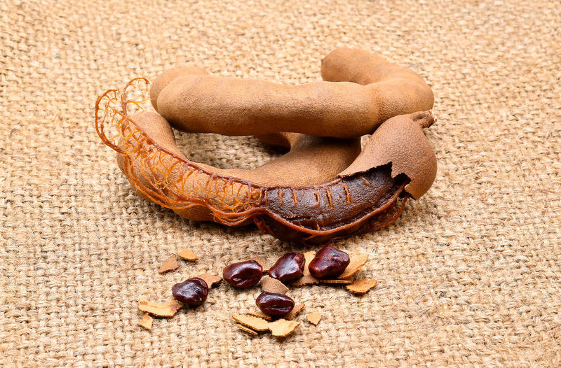 Close-up of tamarind on table