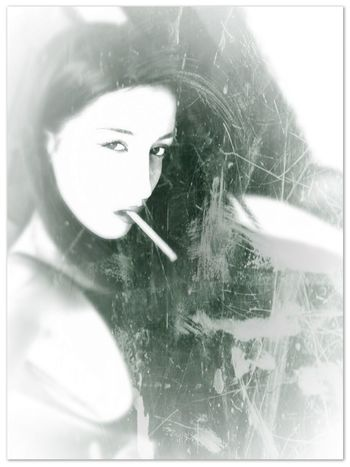 Black And White Portrait Avant Erotica Portrait Of A Woman Seduction Smoking Look Into My Eyes... Look Me In The Eyes My Love picture taken by Lina EyeEm Best Shots - Black + White