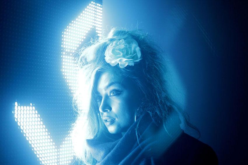 @broguescm #EyeEmInLondon Beautiful Woman Cyberspace Futuristic Illuminated Looking At Camera One Woman Only Portrait Studio Shot Young Adult