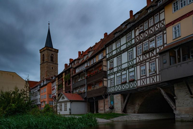 Erfurter Dom Erfurt Architecture Building Exterior Built Structure Building Sky Cloud - Sky Low Angle View Nature No People History Tower City Travel Destinations Religion The Past Place Of Worship Outdoors Belief Day Spire