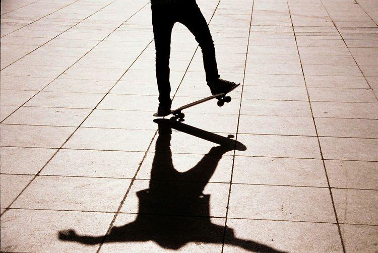 Skate Skateboarding Skater Skateboard Sport Sports Action Sun Sunset Silhouette Lines Mysthical Balance Human