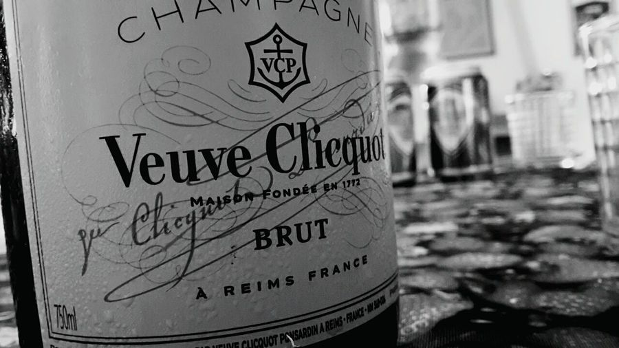 Veuve Clicquot Veuveclicquot Cold Ice Champagne France Queen Drink Champagne Bottle Of Champagne Strawberry Green Color Orange Good Day Pleasures Of Life