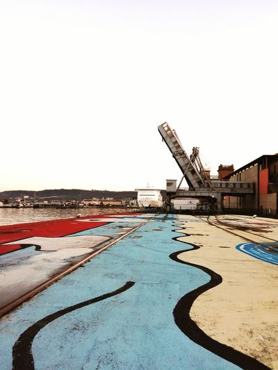 Ferryboat City Harbor Outdoors Water Sky No People Scenics Cherbourg Normandy Nautical Vessel Passerelle Journey Colors Colorful