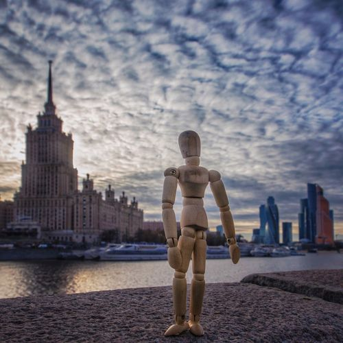 In between Toyphotography Woodyforest Moscow Architecture Sky Building Exterior Built Structure Water City Full Length Cloud - Sky Skyscraper Cityscape Urban Skyline Outdoors