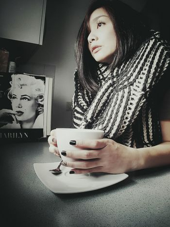 We both ..daydreaming Marilyn and I... What Makes You Calm Home Away From Home Coffee Time Cold Days Vacation Relaxing Looking Out The Window Germany