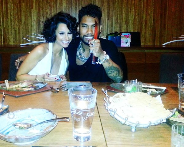 For The Love Of Music R & B recording artist Miguel and my friend Nazanin Mandi Last year for her bday Throwback Enjoying Life Hanging Out Cheese! YouMad CaliLife Las Vegas