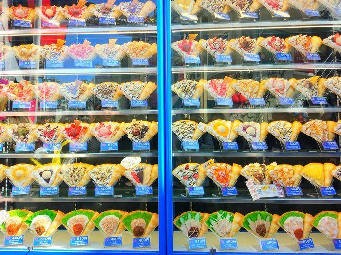 Sweets Desert Ice-cream Window Shopping Window Box Food Harajuku Tokyo Japan Delicious Foods