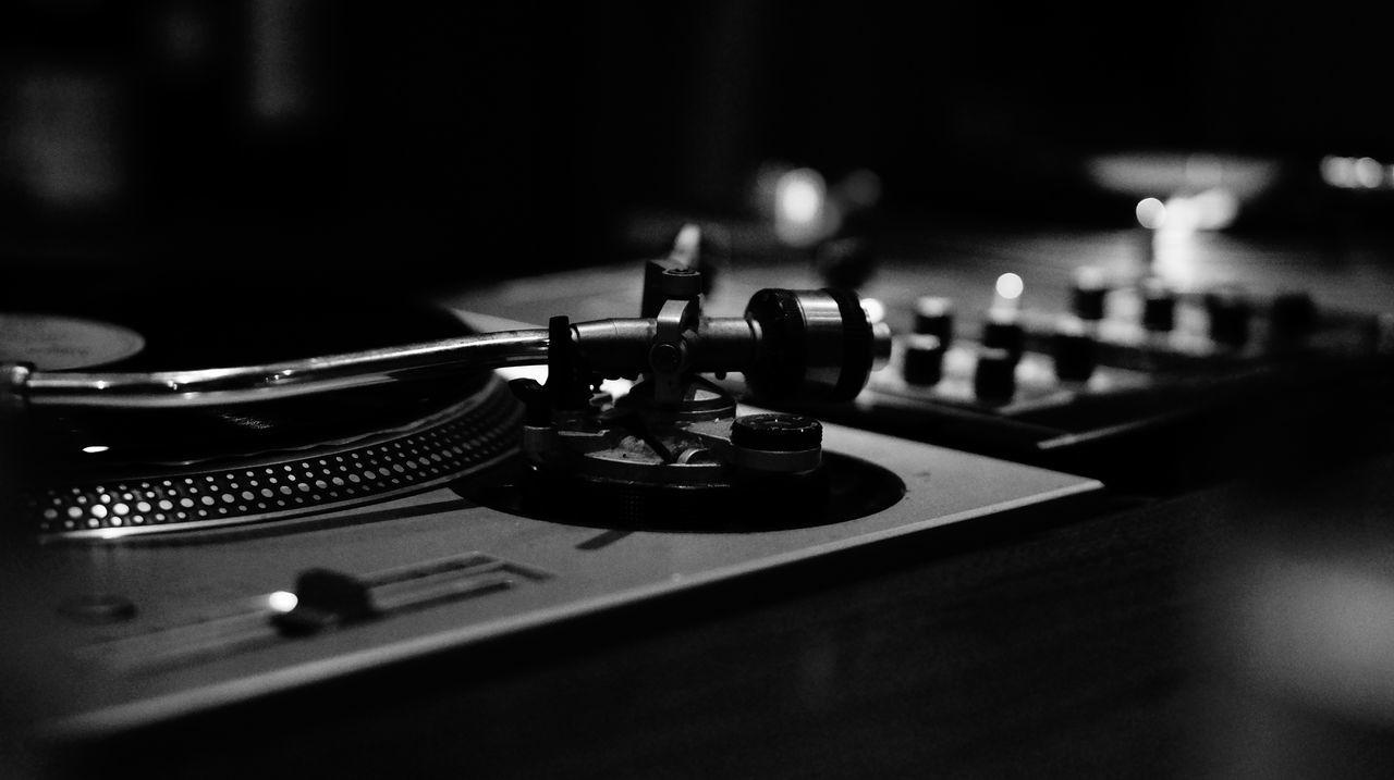 Detail shot of gramophone