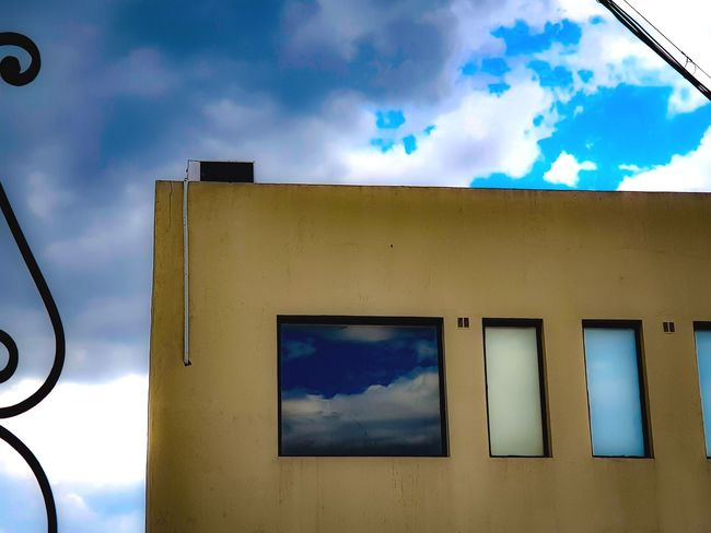 A Window on the Universe Notrick Framewithinaframe Reflection Minimalism Colourgradient Overcast Frommypointofview My Magical Universe Therealthing Eyeemphotography Sky No People Low Angle View Outdoors Close-up Day Architecture Built Structure Building Exterior Cloud - Sky The Creative - 2018 EyeEm Awards The Architect - 2018 EyeEm Awards #urbanana: The Urban Playground
