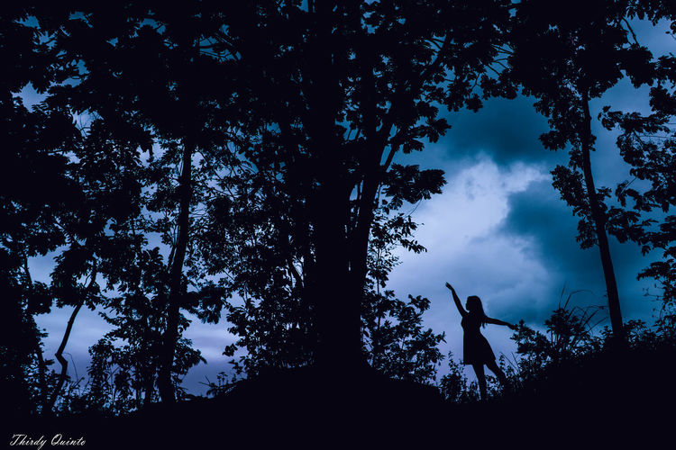 Dance like it is the last time Ballerina Blue Is Cool Dance In The Forest Feel Free Forest Nature Peace Remain Calm Silhouette Tree University Of San Carlos USC Nature Park